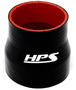 3 Length Silicone High Temp 4-Ply Reinforced Silicone Reducer Coupler Hose HPS HTSRNBLK-029 1-1//8-1-3//8 ID black 3 Length